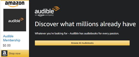Amazon Audible Affiliate Banner   SweatcoinBlog